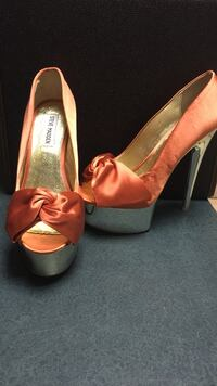 "STEVE MADDEN 7.5 Women's Satin Peep Toe. 6"" heel. Laurel, 20723"