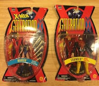 Toy Biz Generation X Marrow and Chamber. Packages in bad shape but never opened. Silver Spring