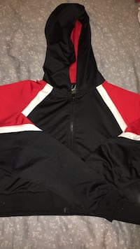 black and red zip-up hoodie Burnaby, V5J 1E3