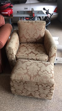 brown and beige floral sofa chair San Diego, 92109