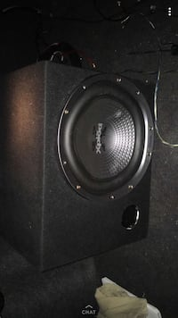 Black pioneer subwoofer with enclosure Ellijay, 30540
