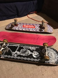 Two complete skateboards and a Deck signed by 3 Pro Skaters Meriden, 06450