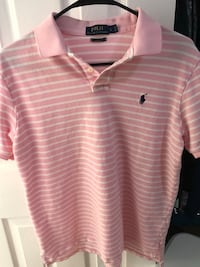 Large Pink Striped Polo Springfield, 22152