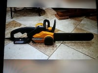 Yellow and black vorx Chain Saw never use 18 inch