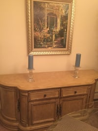 Dining table with chairs and buffet/server table for sale