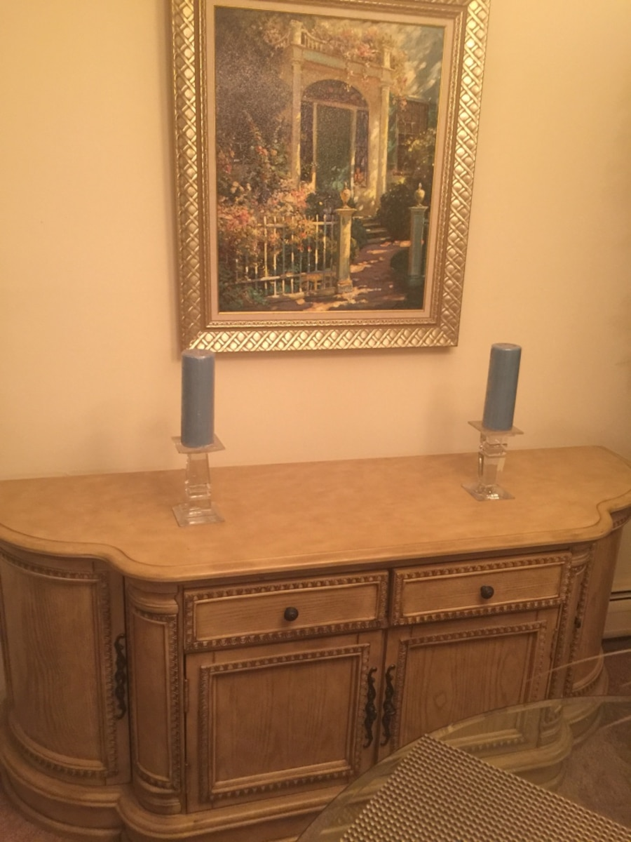 Dining table with chairs and buffet/server table for sale - IL