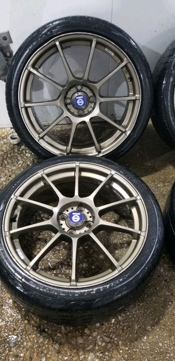 4  18in sparco wheels  4x100 rims and tires 85560631-693c-4a93-a436-b84c3911b562
