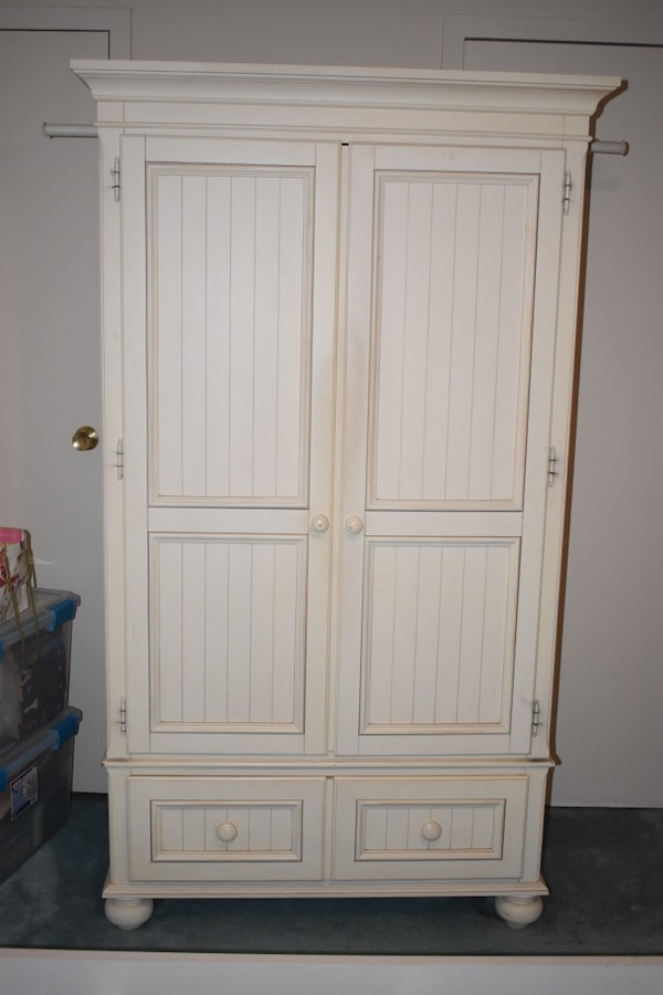 Remarkable Ethan Allen Antique White Armoire Wardrobe Dresser 3 Piece Bedroom Set Download Free Architecture Designs Intelgarnamadebymaigaardcom