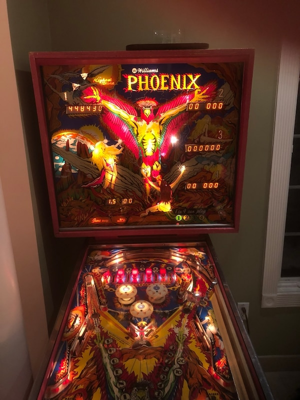 Used Vintage pinball machine. 1978 Williams Phoenix for sale in Plainview