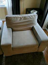 brown fabric padded sofa chair Silver Spring, 20906