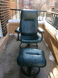 Rocking chair and ottoman leatherette
