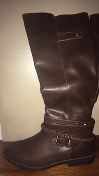 Dark brown leather boots Elkhart, 46514