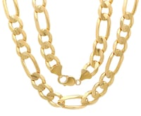 14k solid god figaro chain Washington