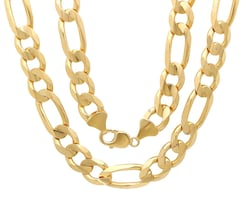 14k solid god figaro chain