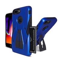 NEW IPhone 7Plus Case Royal Blue W/ Kickstand & Credit Card Holder