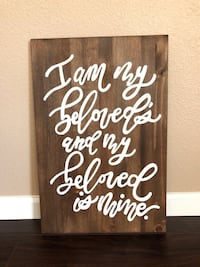 "16""x24"" Wooden Sign Selma, 93662"