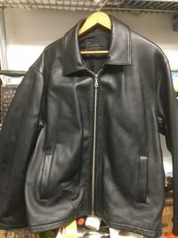 Roots black leather jacket Burnaby, V5G 3X4