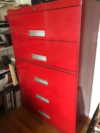 Large red file cabinet Silver Spring, 20902