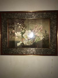 brown wooden framed painting of flowers Greensboro, 27406