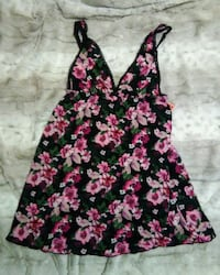 Smart & Sexy Black Floral Chemise,  Size Med, NWT Gladstone