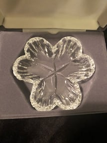 Waterford Crystal clover dish