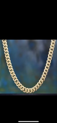 12mm 14K Gold Iced Cuban Chain *18, 20, 24 inch length available Reston, 20191