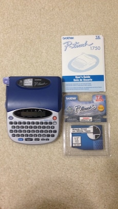 P-Touch 1750 Label Maker And Tape, used for sale  South Daytona Beach, FL