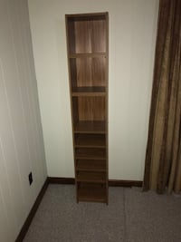 brown wooden 5-layer shelf 21 mi