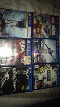 six assorted PS4 game cases Denver, 80239