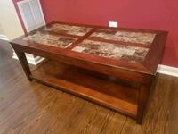 Dark wood coffee table with end tables 45 km