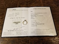 Lady's 14k White Gold Diamond Solitaire Ring $490 Appraised by AGL at $1050.00! AURORA