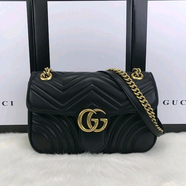 041f89adaf6 Used Gucci Marmont Black Leather - Premium Quality for sale in Greater  London - letgo