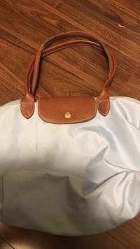 white and brown leather tote bag Surrey, V3T 0C5