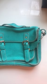 Genuine ROOTS leather bag-teal