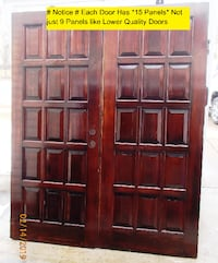 Solid Mahogany Double Front Entry Doors Hand Made with 15 Panels Not Just 9 fo Just $350 Mount Airy