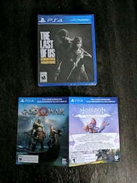 The last of Us, god of war and horizon