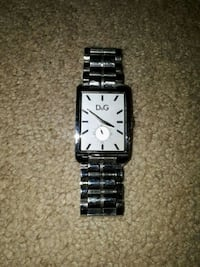 square silver analog watch with silver link bracel Victoria, V9A 1L1