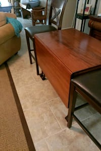 rectangular brown wooden table with chairs Naples