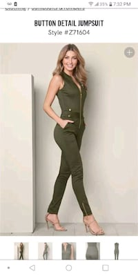 Olive green womens jumpsuit