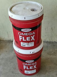 two red Omega Flex plastic pails Bakersfield, 93301