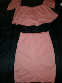 women's peach square-neck crop top and skirt Gainesville, 32601
