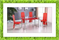 Glass red  table with 4 chairs  Elkridge, 21075
