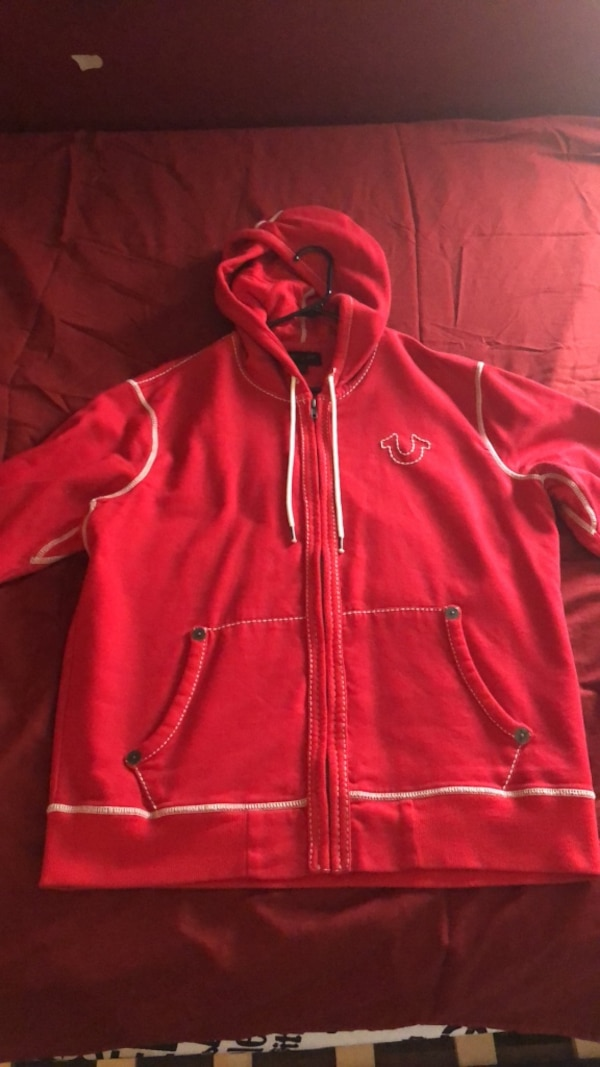 134e02f773a4b6 Used True Religion Hoodie (Red) size. XL for sale in New York - letgo