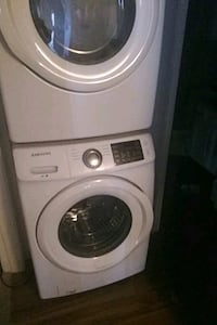white LG front-load clothes washer Fort Worth, 76131