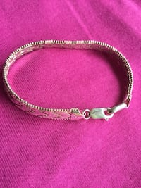 Sterling  Silver Herringbone style  classy bracelet / Made in Italy smooth and beautiful silver Alexandria, 22311