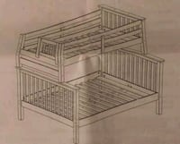 WOODEN BUNKBED (TWIN over FULL ) Bel Air, 21014