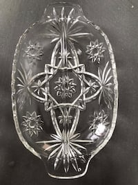 Lead glass appetizer tray