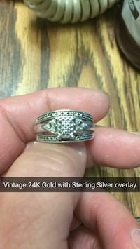 vintage 24K gold with sterling silver ring
