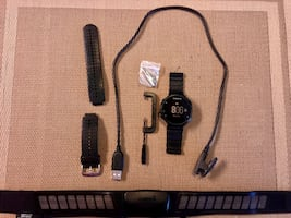 Garmin Forerunner 235 w/ heart rate monitor and extra band