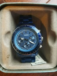 NWT Womens Navy Fossil watch in box Centreville, 20121